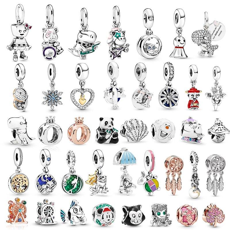 2 шт./лот, специальное предложение, панковские браслеты серии, Очаровательные бусы, подходят для оригинальных браслетов Pandora, ожерелья для женщин, сделай сам, изготовление ювелирных изделий