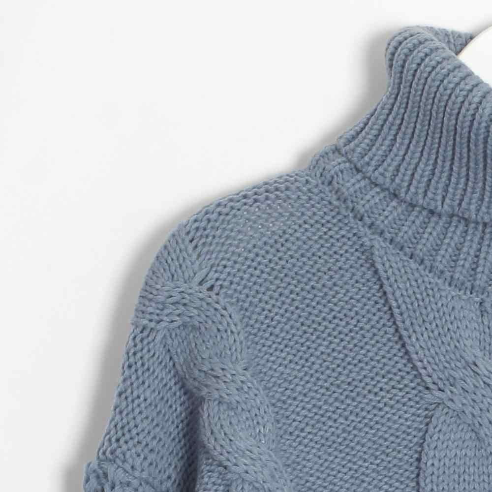 Suéteres de cuello alto de Wixra 2019 Otoño Invierno Color sólido elegante Casual señoras de punto Mujer jerseys suéter y pulóveres