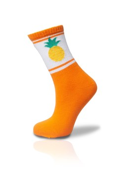 Pineapple Pattern Orange Tennis Unisex Socks 36 42