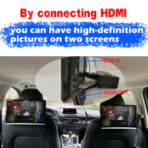 Image 2 - 13.3 Inch Android 9.0 Car Headrest Monitor Same Screen 4K 1080P Touch Screen WIFI/Bluetooth/USB/SD/HDMI/FM/Mirror Link/Miracast