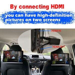 Image 2 - Monitor para reposacabezas de coche Android 13,3, pantalla táctil de 9,0 pulgadas, 4K, 1080P, WIFI, Bluetooth, USB, SD, HDMI, FM, mirrorlink, Miracast
