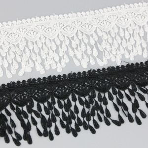 70mm White black Silk Net Lace Fabric Ribbons Trim DIY Sewing Handmade Craft Materials 1 yard