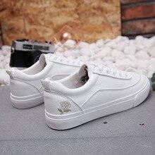 Women Sneakers Fashion Breathble Vulcanized Shoes Pu Leather Casual Lace Up White Tenis Feminino Zapatos De Mujer