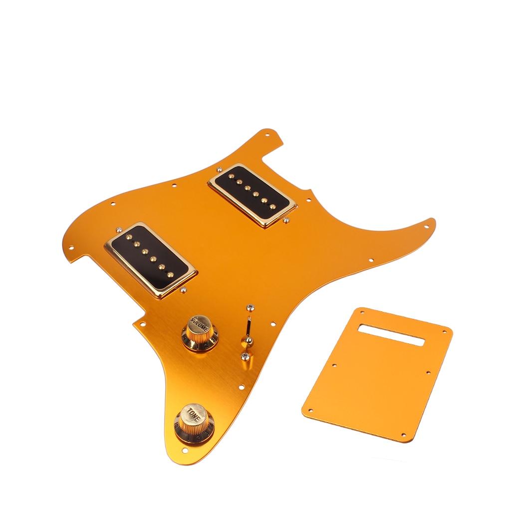 1 Set or guitare électrique Pick Guard HH08 avec bobine simple Alnico V Pick-up P09 pour ST guitare