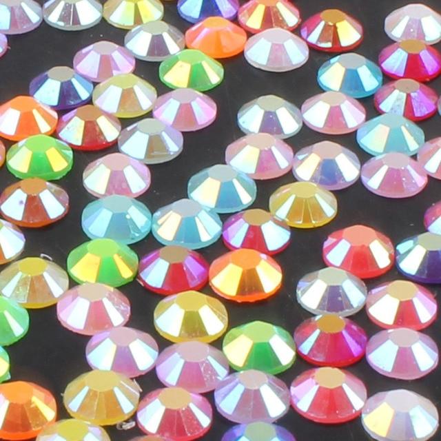 Rhinestones Crystal Clear AB Non Hotfix Flatback Nail Rhinestoens For Clothes Nails 3D Nail Art Decoration 1000Pcs 2-6mm E
