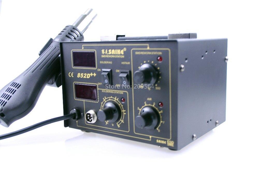 SAIKE 852D + + fer à souder pistolet à Air chaud 2 en 1 Station de reprise 220V 110V amélioré fron tête de fer bouche de vent - 3