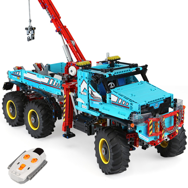 20056 Technic Series The Ultimate All Terrain 6X6 RC Truck Set Building Blocks Bricks Toys Model compatible <font><b>legoing</b></font> <font><b>42070</b></font> image