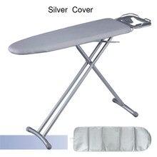 3 rozmiary typu przenośna składana pokrywa na deskę do prasowania dla gospodarstw domowych uniwersalna srebrna gruba odbijająca ciepło antypoślizgowa podkładka do prasowania