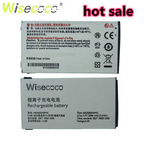 Wisecoco NEW 2000mAh AB2000AWMC Battery For PHILIPS X130/X523/X513/X501/X623/X3560/X2300/X333 With Tracking Number(China)