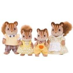 Sylvanian famílias brinquedo sylvanian famílias nogueira esquilo família crianças meninas brincar casa boneca 4172