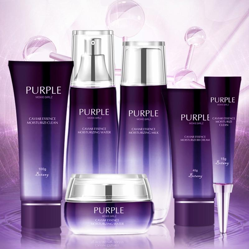6pcs MOXIE GIRLZ purple perilla essence whitening six-piece set of hydrating and moisturizing skin care products set