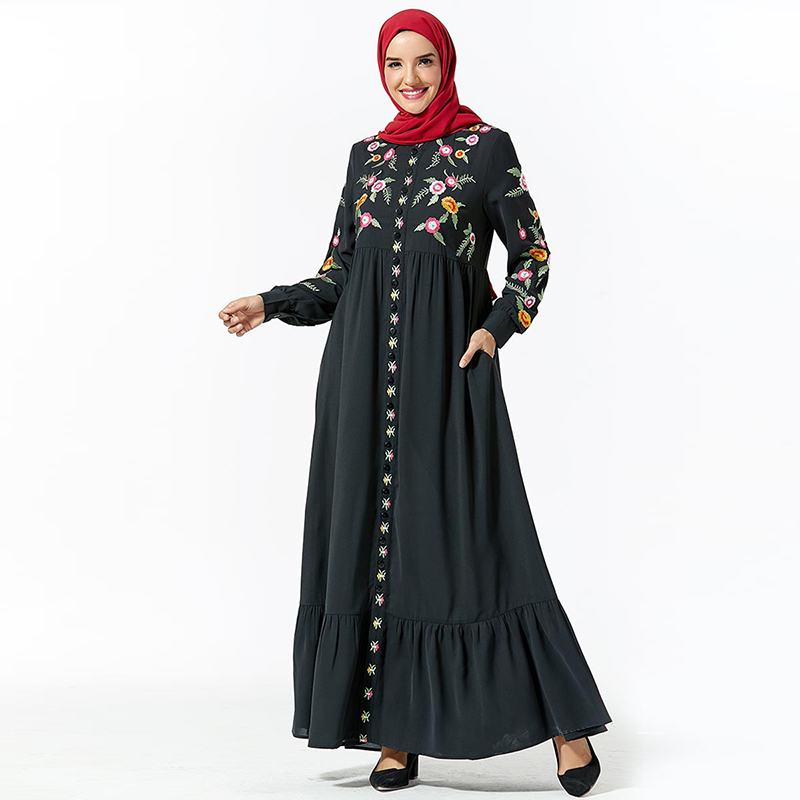 Muslim Dress Dubai Abaya Turkish Hijab Dresses Caftan Marocain Kaftan Islamic Clothing Abayas For Women Islam Arabische Kleding