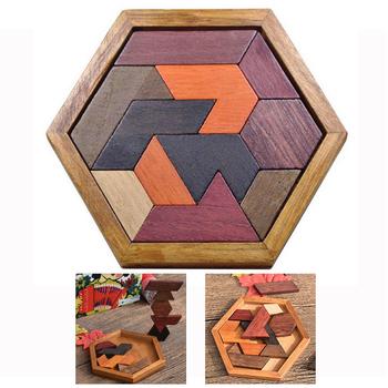 Puzzle edukacyjne dla dzieci puzzle dla dzieci prezenty deska geometryczny kształt zabawka drewniana łamigłówka nietoksyczny drewniane puzzle zabawka tanie i dobre opinie piggy dream Unisex 3 lat Drewna Sprytny obiadokolacja puzzle Dont Eat It XH65