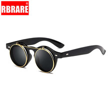 RBRARE Round Punk Sunglasses Women/Men Brand Designer Alloy