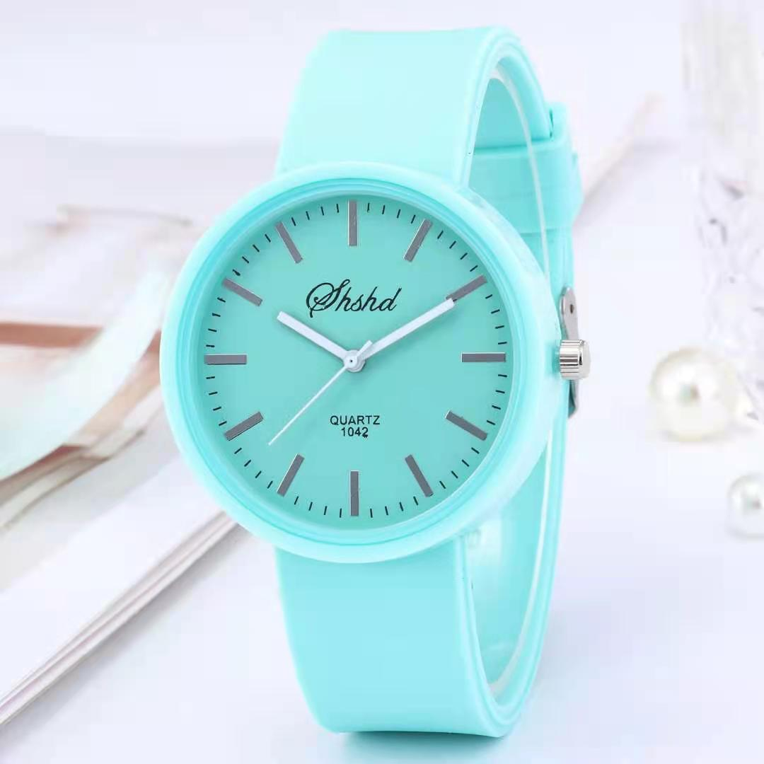 Часы наручные WOKAI женские кварцевые, простые Брендовые повседневные со стразами, с силиконовым ремешком, 2021