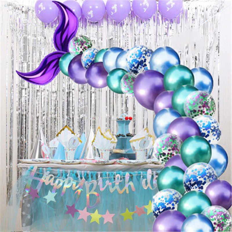 Mermaid Birthday, Mermaid Party Decorations Mermaid Birthday Party Decor 46 Mermaid Birthday Foil Mylar Balloon Mermaid Tail Balloon