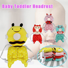 Hot Selling Cute Baby Head Protection Pad Headrest Pillow Adjustable Back Protector Safety Cushion LBV