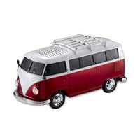 Colorful Mini Bluetooth Speaker Car Shape Mini Bus Speaker Support Fm +U Disk Insert Card Mini Speaker Mp3 Player Red|  -
