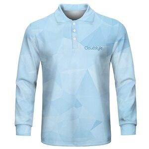 Image 3 - 2020 ファッション男性のポロシャツカジュアル男性ポロシャツ 3D プリント長袖ターンダウン襟通気性のポロシャツ