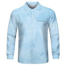 3d Tops&Tees Mens Polo Shirts Casual Men 3D Print  Long Sleeve Turn-down Collar Shirt