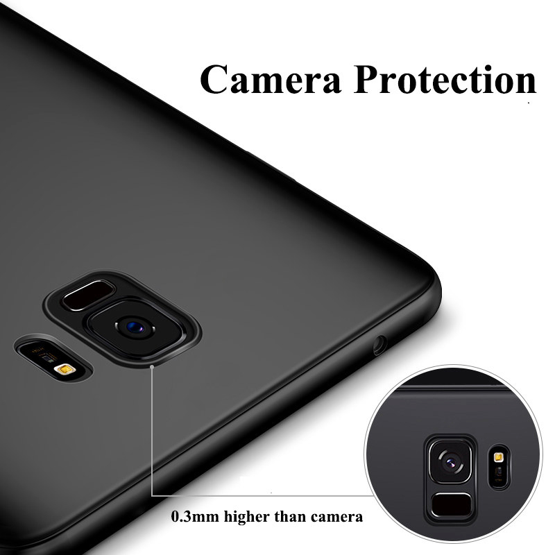 0 3mm Ultra Thin Soft Phone Case For Samsung Galaxy S10 S9 S8 Plus TPU Matte Back Cover Case For Samsung Note 9 8 S10 5G S7 Edge in Fitted Cases from Cellphones Telecommunications