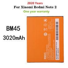 2020 years For Xiaomi Redmi Note 2 Hongmi Note2 Mobile phone battery BM45 3020mAh Replacement batteries