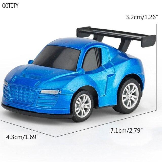 OOTDTY 8 Pcs Children Toy Parking Lot Cute Q-type Car Macarons Mini Car Model Kids Boys Holiday Birthday Gifts