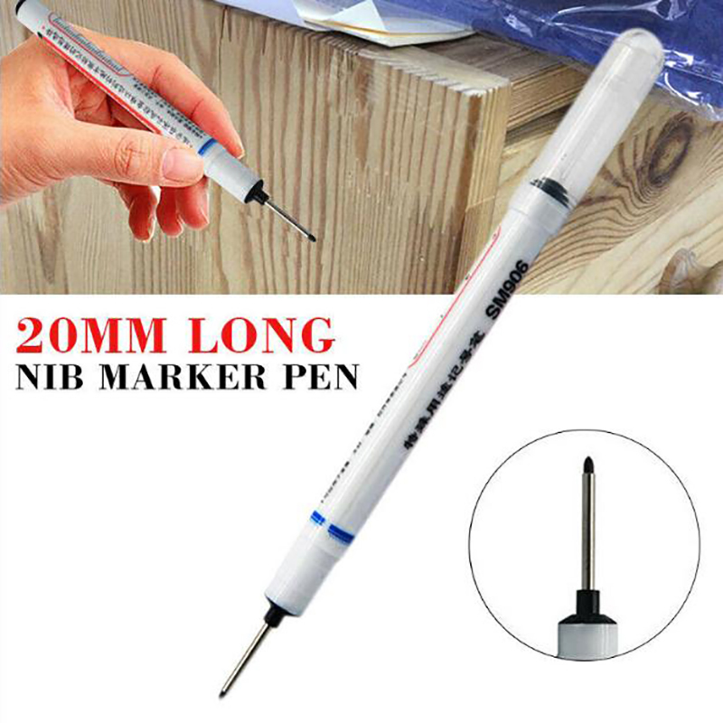 Long Head Markers Bathroom Woodworking Decoration Multi purpose Deep Hole Marker Pens|Paint Markers| - AliExpress
