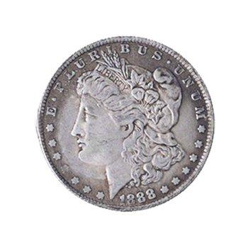 Morgan Coin Morgan magiczne rekwizyty magiczna moneta magik moneta magnes można przykleić tanie i dobre opinie Aotu CN (pochodzenie) Metal
