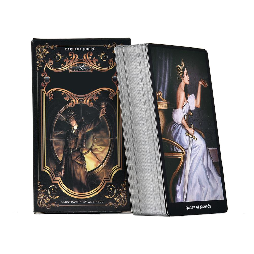 78PCS Tarot Cards The Steampunk Tarot Table Deck Board Game Card For Family Gathering Party Playing Card Games