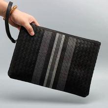 Leather Clutch Bag 100% Cowhide LargeCapacity Soft Woven Handbag Luxury Brand Design 2020 New Fashion Knitting 2018 luxury brand women leather handbag 100