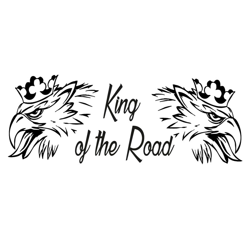 SAAB SCANIA The King Of The Road Funny  For Auto Car/Bumper/Window Vinyl Decal Sticker Decals DIY Decor CT2647
