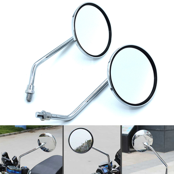Universal 8mm 10mm plated motorcycle side rear view mirror for BMW K1600 K1200R K1200S R1200R R1200S R1200ST R1200GS image
