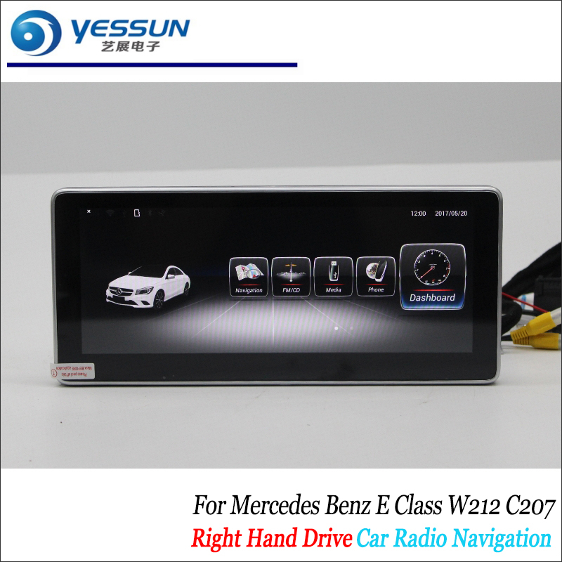 Car <font><b>Android</b></font> Multimedia For Mercedes <font><b>Benz</b></font> E Class <font><b>W212</b></font> C207 2010~2015 2016 2017 Radio CD DVD Player Screen GPS Navigation Stereo image