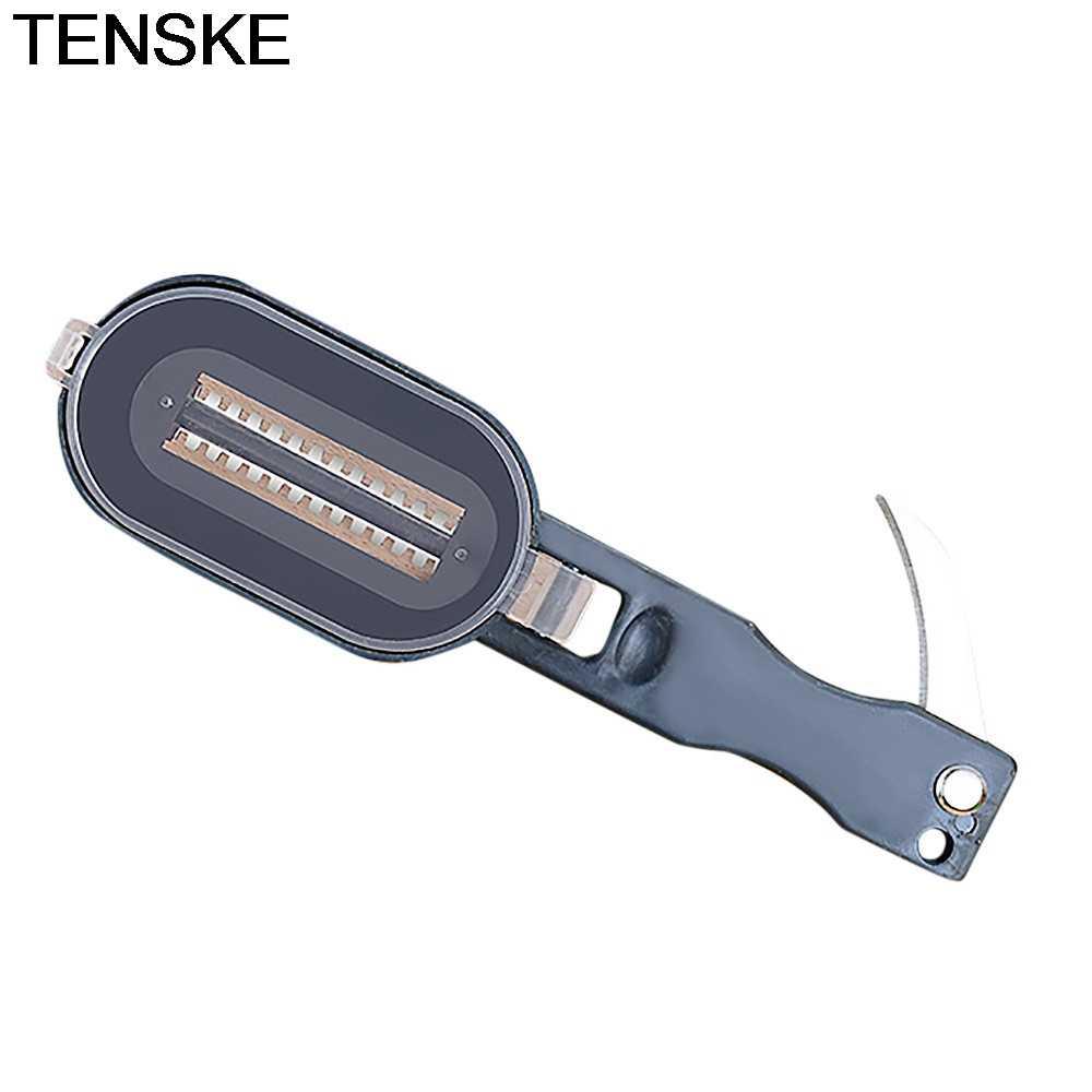 TENSKE ใหม่ปลา Scale Remover Scaler Skinner มีดขูดทำความสะอาดครัว Peeler เครื่องมือตกปลาเครื่องครัว Peeler