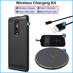 Image 5 - Qi Wireless Charger Install Type C Receiver for Xiaomi Mi 9T/9T Pro/Redmi K20/K20 Pro Enjoy Wireless Charging Gift Case