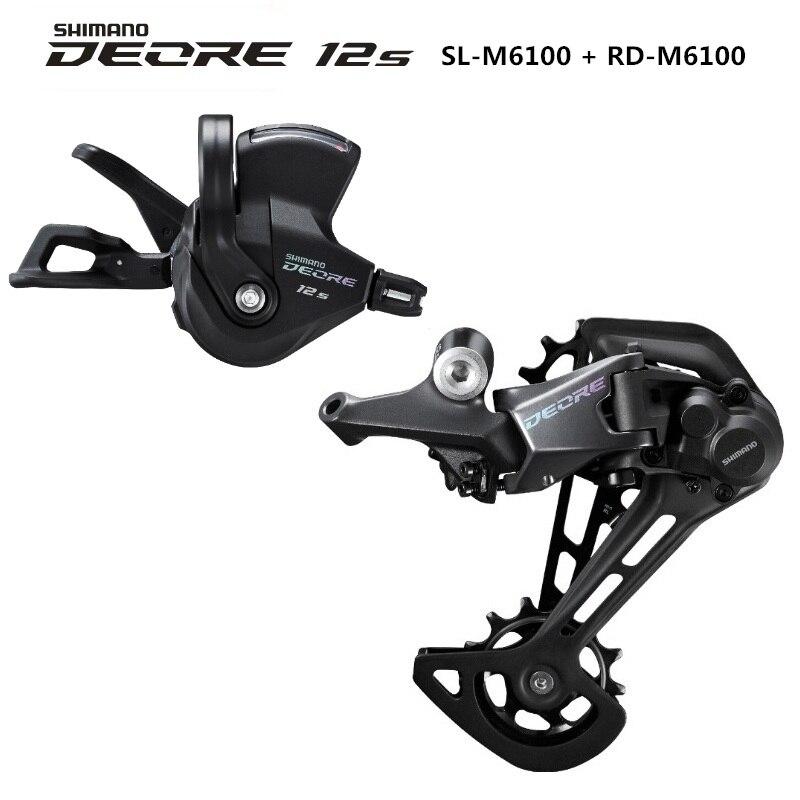 SHIMANO palanca de cambio de velocidad DEORE M6100 1x12, desviador trasero, accesorio para bicicleta de montaña, 12 velocidades|rear derailleur|shimano deore m610shimano deore - AliExpress