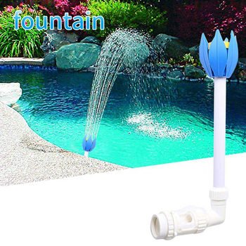 Mini catarata para piscina rociador fuente chorros flor de loto boquilla al aire libre jardín piscina Accesorios