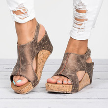 Summer Women Sandals Wedges High Heel Platform Sandals Shoes Woman Gladiator Casual Plus Size 35-43 Sandalias Mujer 2020