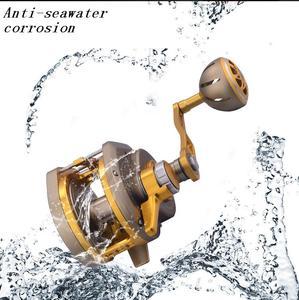Image 5 - 13+2BB 6.3:1 Fishing Reel Automatic Line Guide Saltwater Boat Spinning Reel Slow Fast CNC Aluminium Full Metal Baitcasting Reel