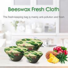 Environment Friendly Fresh Cloth Reusable Natural Beeswax Fresh-keeping Bag Food Packaging Fruit Storage Cloth