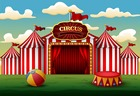 7x5FT Classic Red Wh...