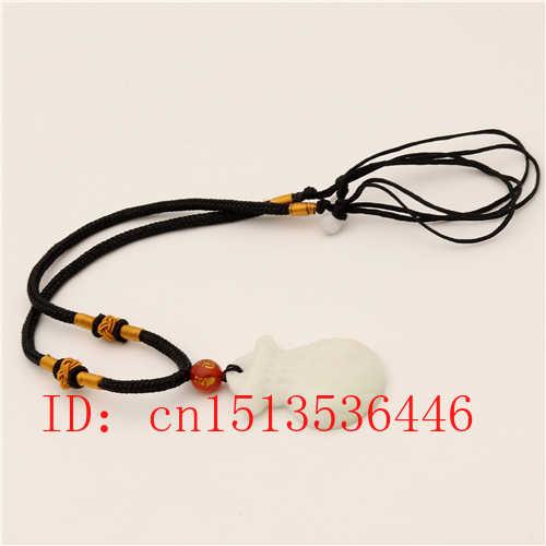Bolso de la suerte tallado, colgante de Jade, collar blanco Natural chino, joyería, amuleto de moda, regalos para mujeres y hombres