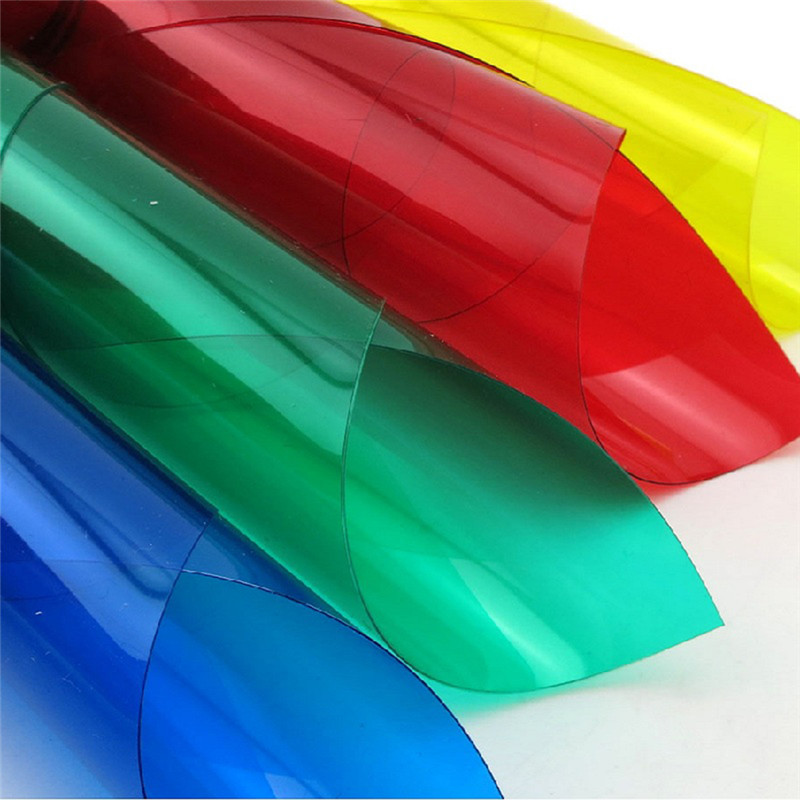 New Hot Sale 0.3 Mm Thickness 10 Colors PVC Transparent Sheet ABS Colorful Sheet In Size 29.8*21.1 Inch With High Quality