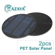 2pcs x PET Solar Panel 5V Portable Solar Cell Charger Pane Climbing Fast ChargeTravel DIY LED Light Solar Generator