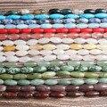 Модные ювелирные изделия Lan Li, 15x6 мм, разноцветные натуральные камни, бусины россыпью, «сделай сам», женский браслет, ожерелье, серьги-гвозди...