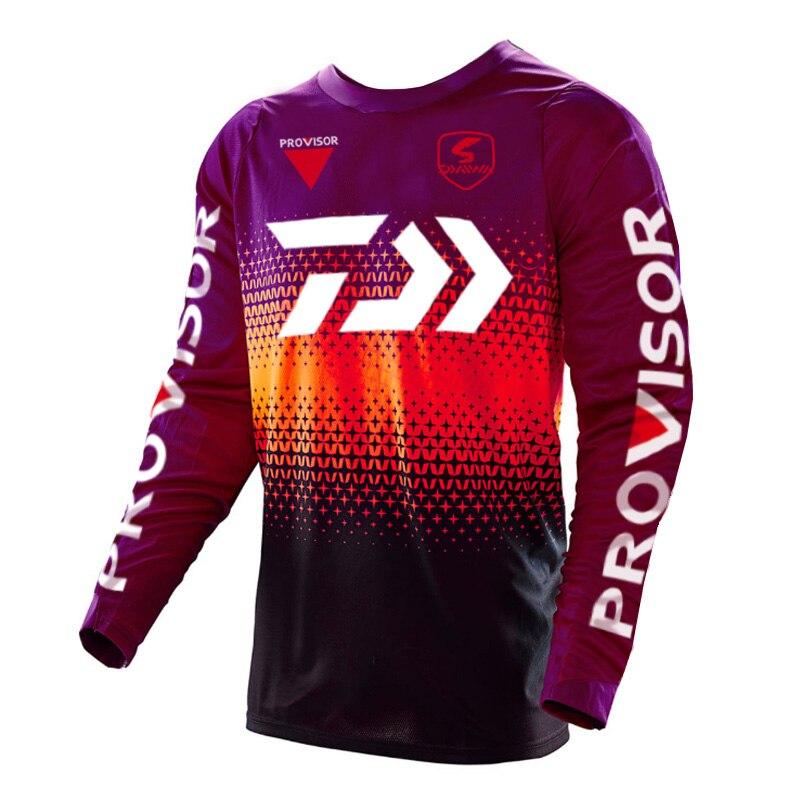 Daiwa Fishing Shirt Clothing Quick Dry Long Sleeve Breathable Fishing Shirts Anti UV Hooded Cycling Hiking Fishing Clothes