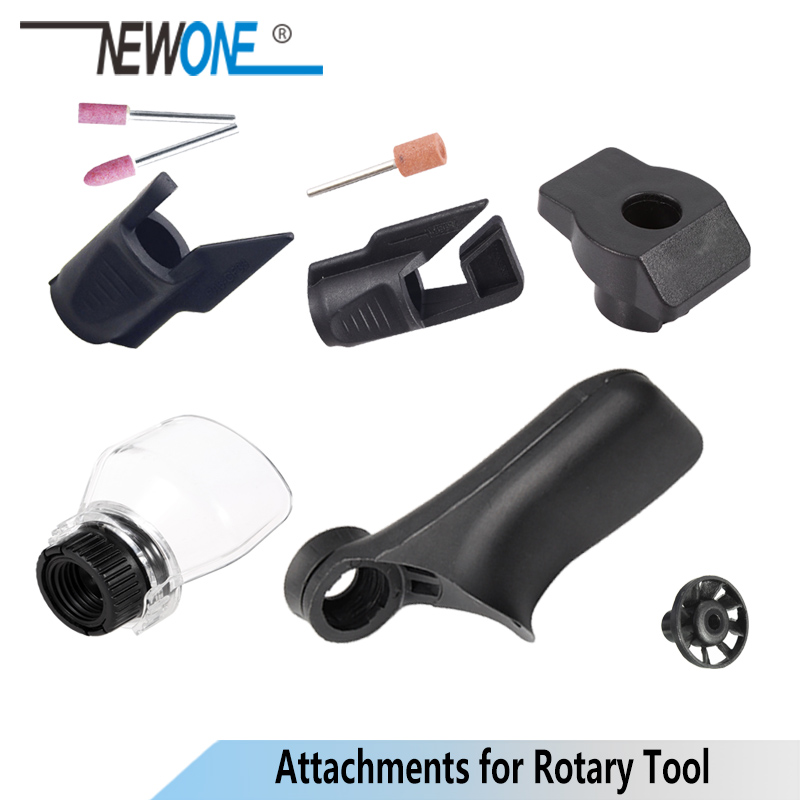 NEWONE Rotary Tool Attachments 2pcs/set Dremel Accessories Saw Sharpening Dust Blower Fan Shield Grinding Guide