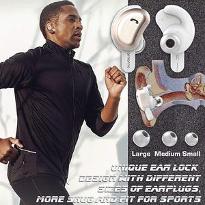Image 5 - Amorno Wireless Eaephones in ear Earbuds Wireless Bluetooth Earphone Noise Canceling Ecouteur Sans Fil Bluetooth Bass Headset
