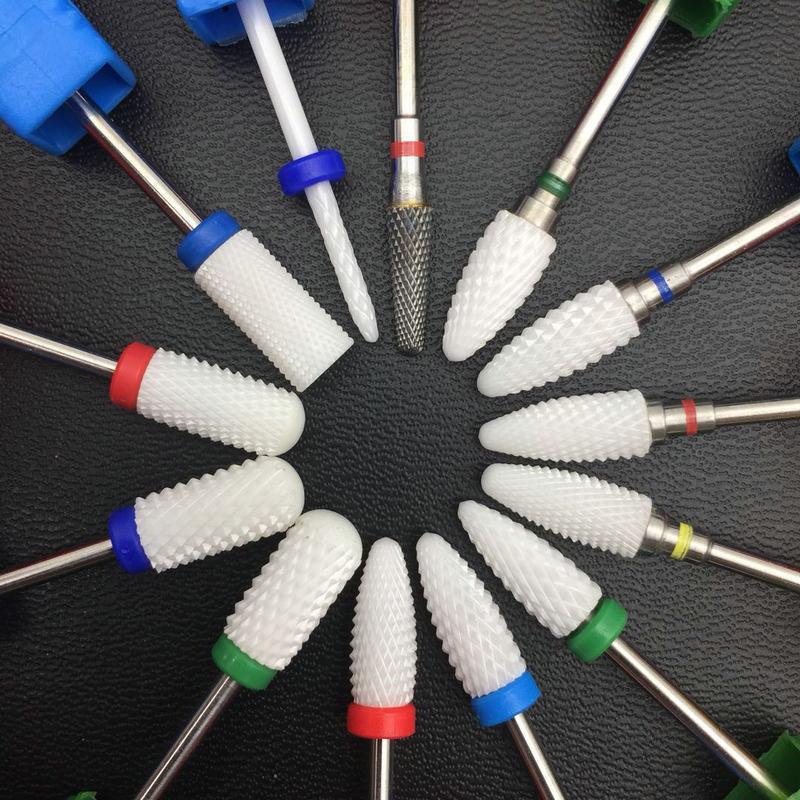 varios modelos de ceramica prego brocas acessorios da maquina de manicure eletrica giratoria arquivos manicure cortador